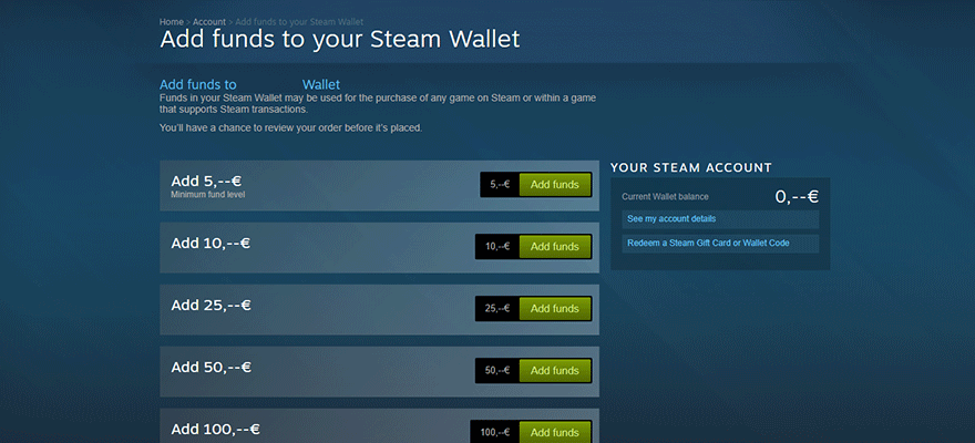 refund steam wallet